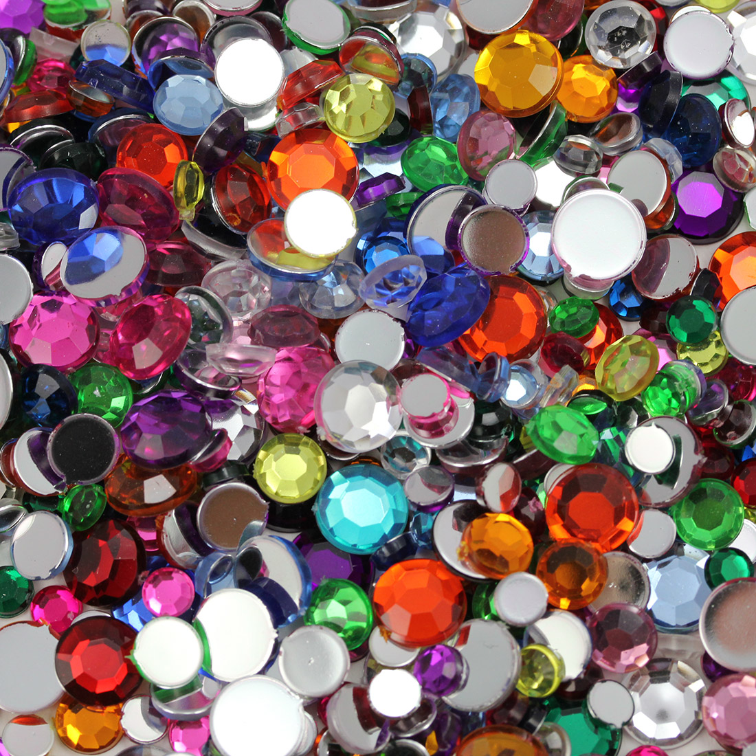 beautiful flat back acrylic gems