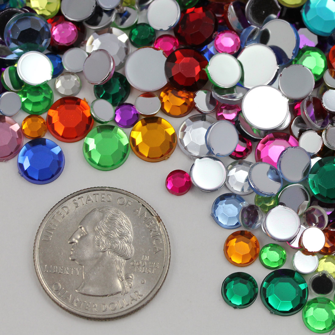 allstarco flat back gems in bulk