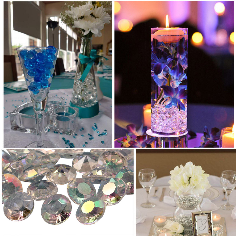 allstarco acrylic diamond confetti table scatter decorations wedding birthday decor gems