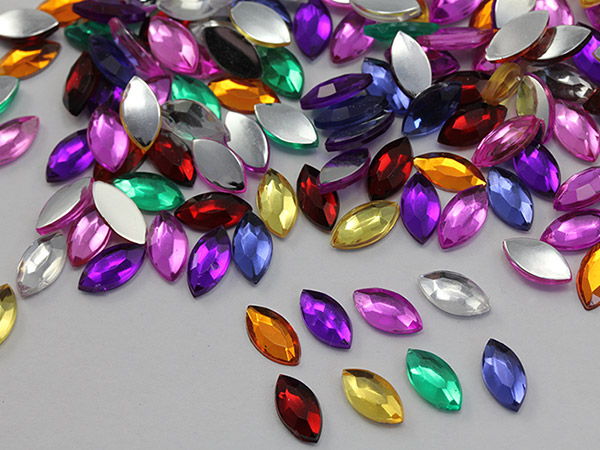 Navette flat back Jewels assorted colors