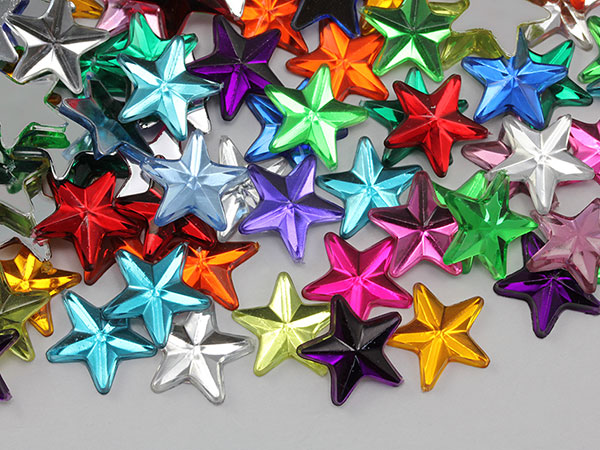 star acrylic flat back rhinestones gems for cosplay