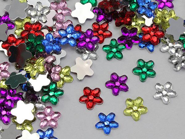 flower acrylic flat back rhinestones
