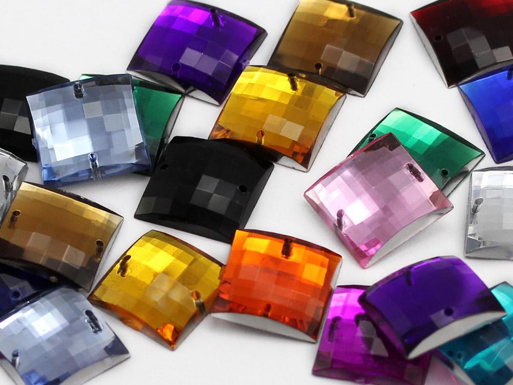 square sew on acrylic flat back rhinestones gems for cosplay