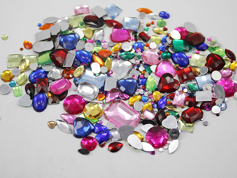 flat back acrylic craft gems in bulk
