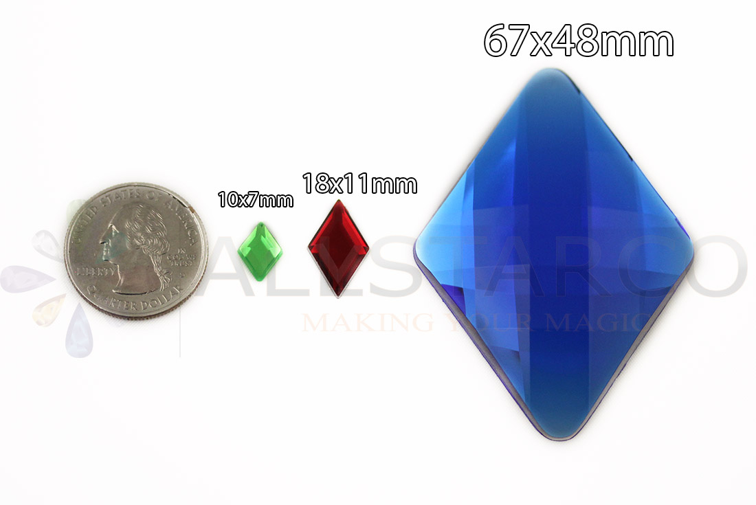 allstarco diamond acrylic rhinestones size reference