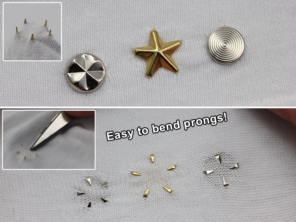 how to apply studs nailheads with out tool