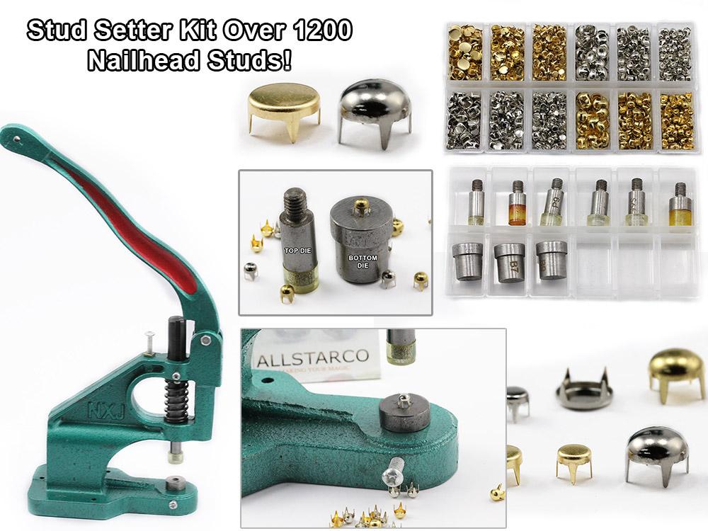 nailhead stud setter kit embelish tool handpress allstarco