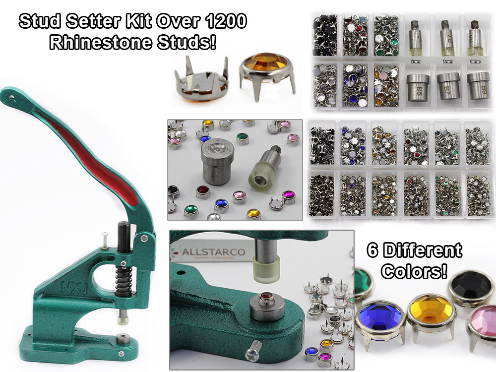 bedazzler rhinestones setter kit embelish tool handpress allstarco