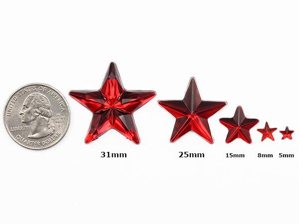 allstarco star acrylic rhinestones size reference
