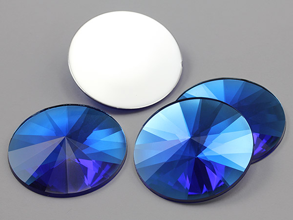 Blue Round 40mm acrylic gems