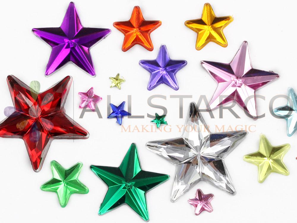allstarco star flat back rhinestones