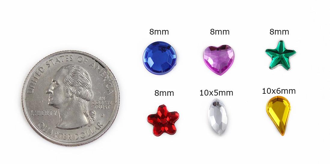 acrylic rhinestones heart star flower navettes teardrop in bulk
