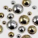 Silver / Gold Metallic Cabochons