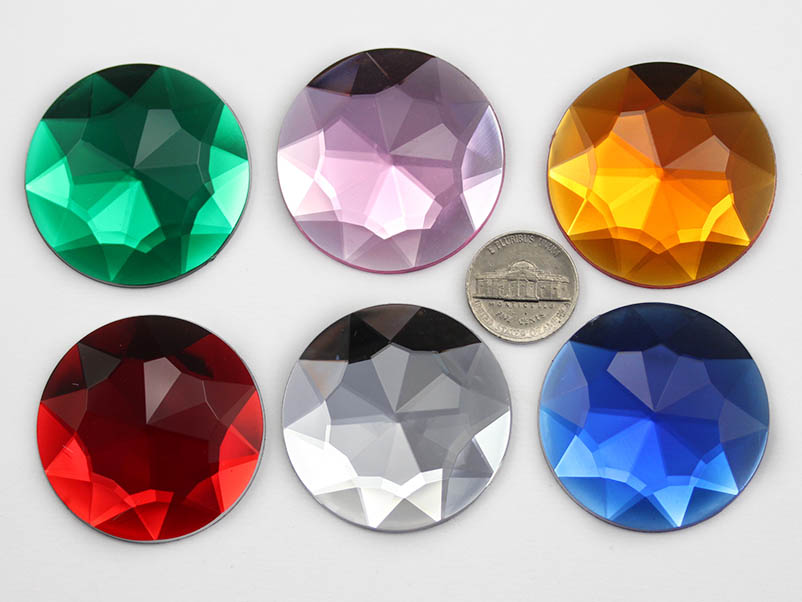 Self ADhesive Round 43mm Jewel
