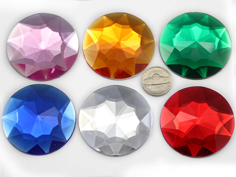 Mm Flat Back Faceted Glass