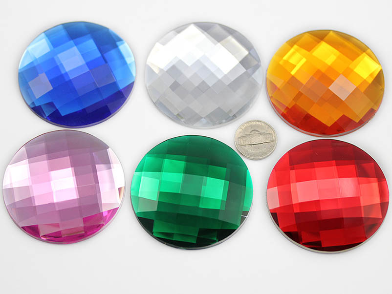Self ADhesive Round 60mm Jewel