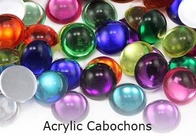 Acrylic Cabochons Flat Back