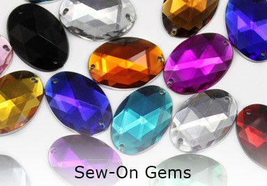 Sew On Flat Back Gems