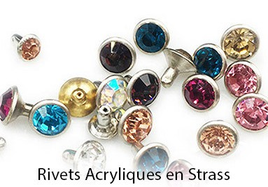 Rivets Acrylique en Strass